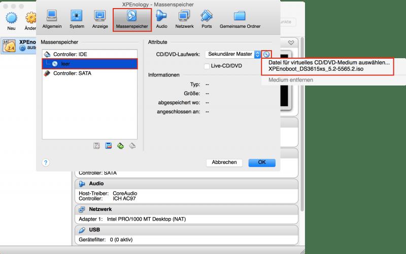 VirtualBox: Bootloader einbinden