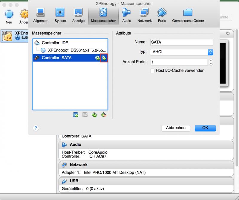 VirtualBox: Festplatte erzeugen