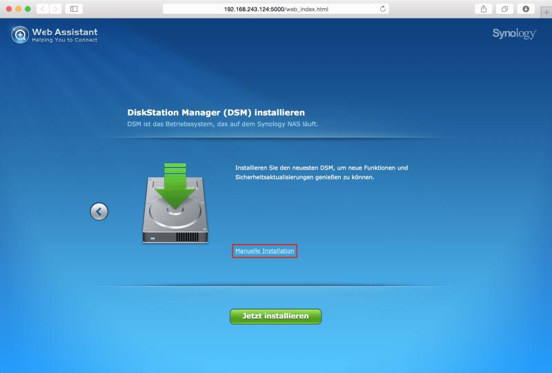 Web Assistant: Manuelle Installation