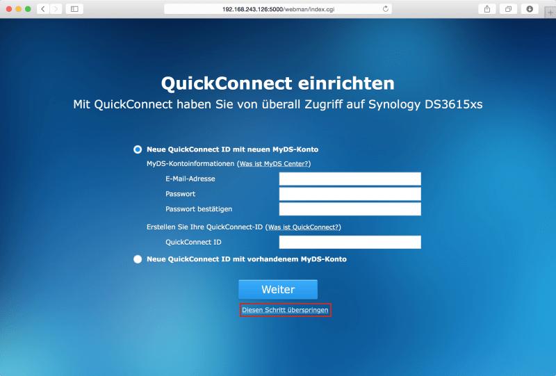 DSM: QuickConnect einrichten