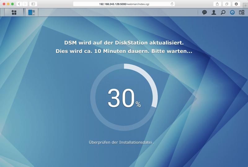 DSM: Update läuft