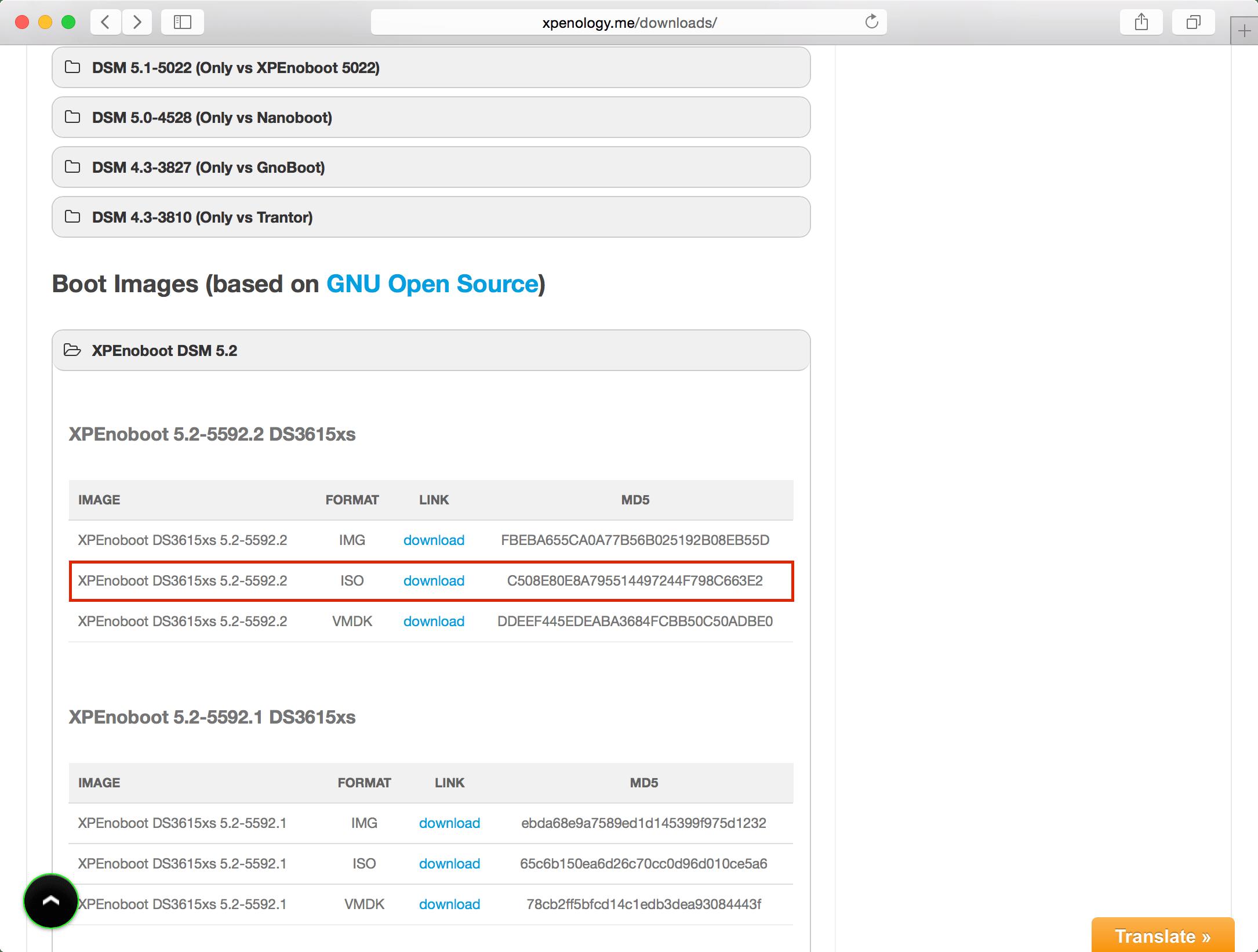 XPEnology auf DSM 5 2-5592 Update 3 upgraden