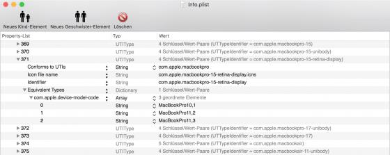 """Netatalk: Zuordnung von """"device-model-code"""" zu Symbol"""
