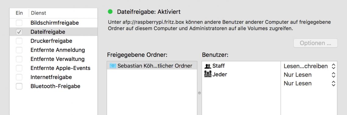 OS X: Gerätenamen festlegen