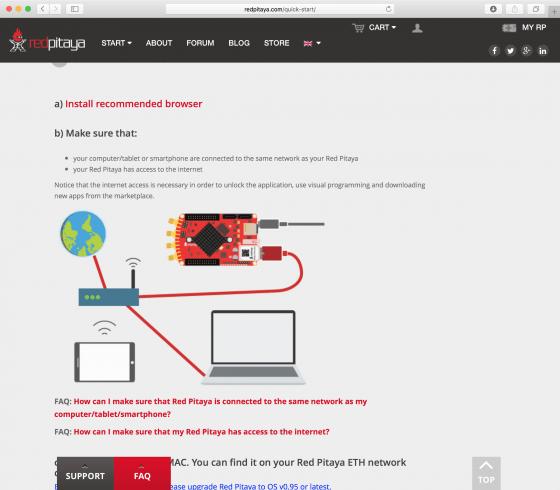 Red Pitaya Quick Start: Netzwerkverbindung herstellen