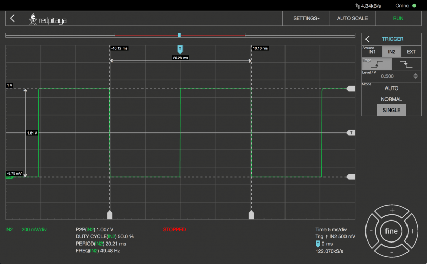 Red Pitaya: Oscilloscope Pro