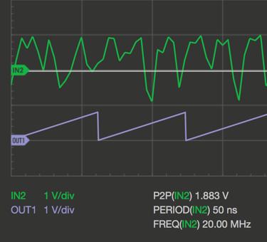 Oscilloscope Pro: Signalgenerator - SAWU @8MHz