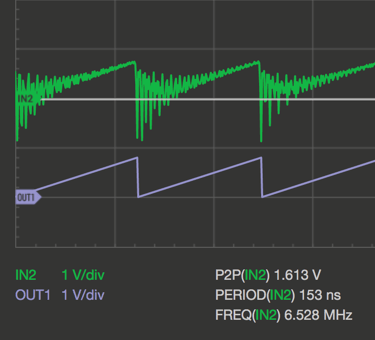 Oscilloscope Pro: Signalgenerator - SAWU @800kHz
