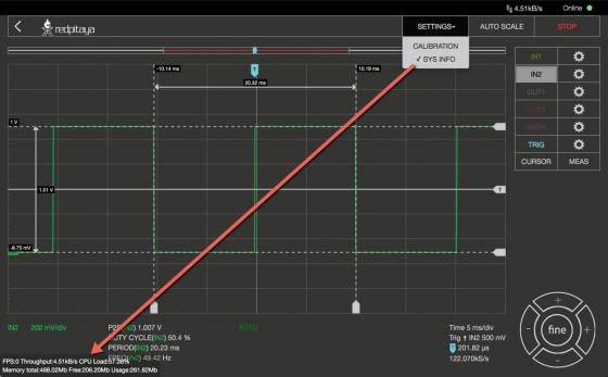 Oscilloscope Pro: Sysinfo