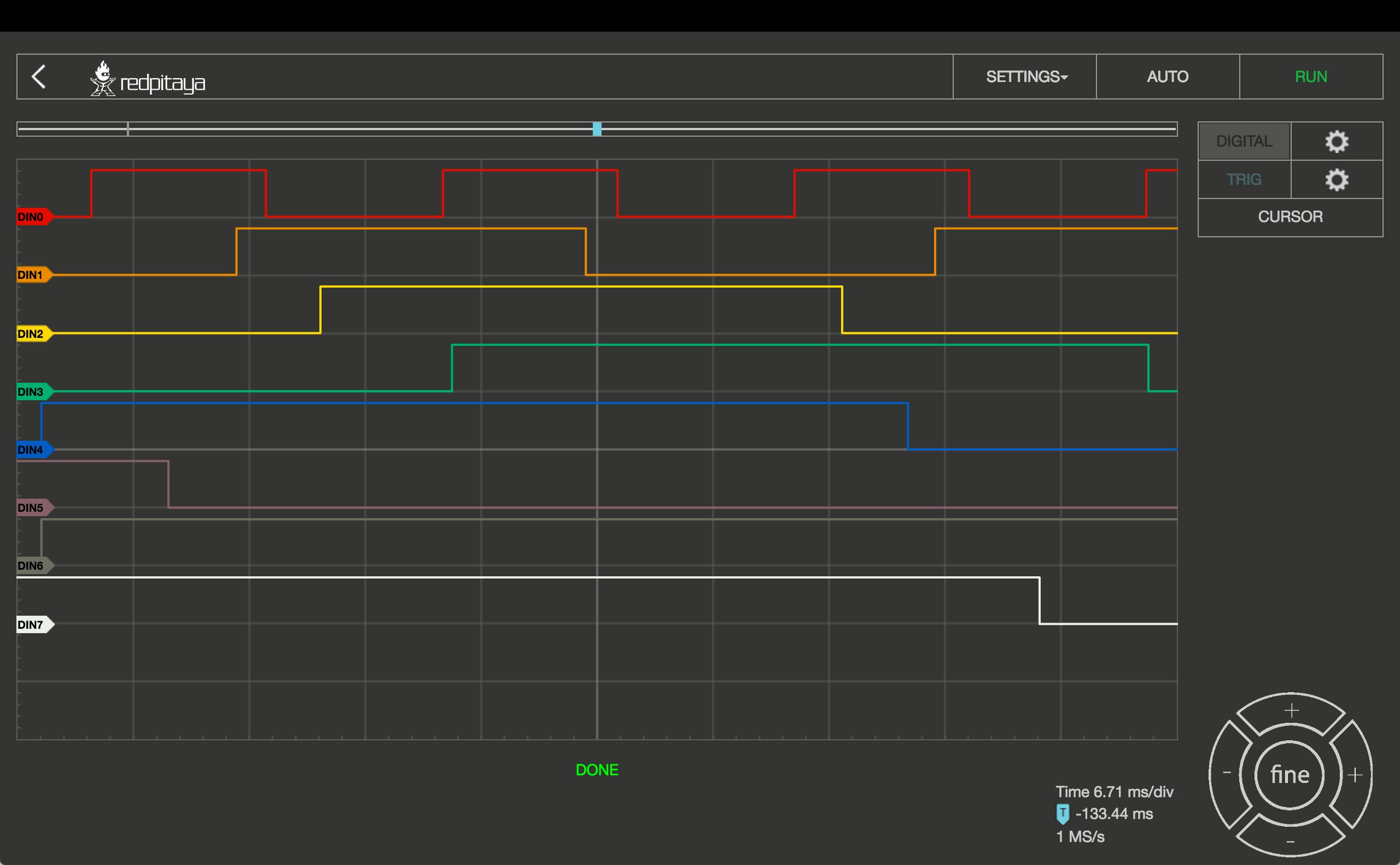 Red Pitaya Logic Analyzer App Hardware Indibit Diagram Messwerte