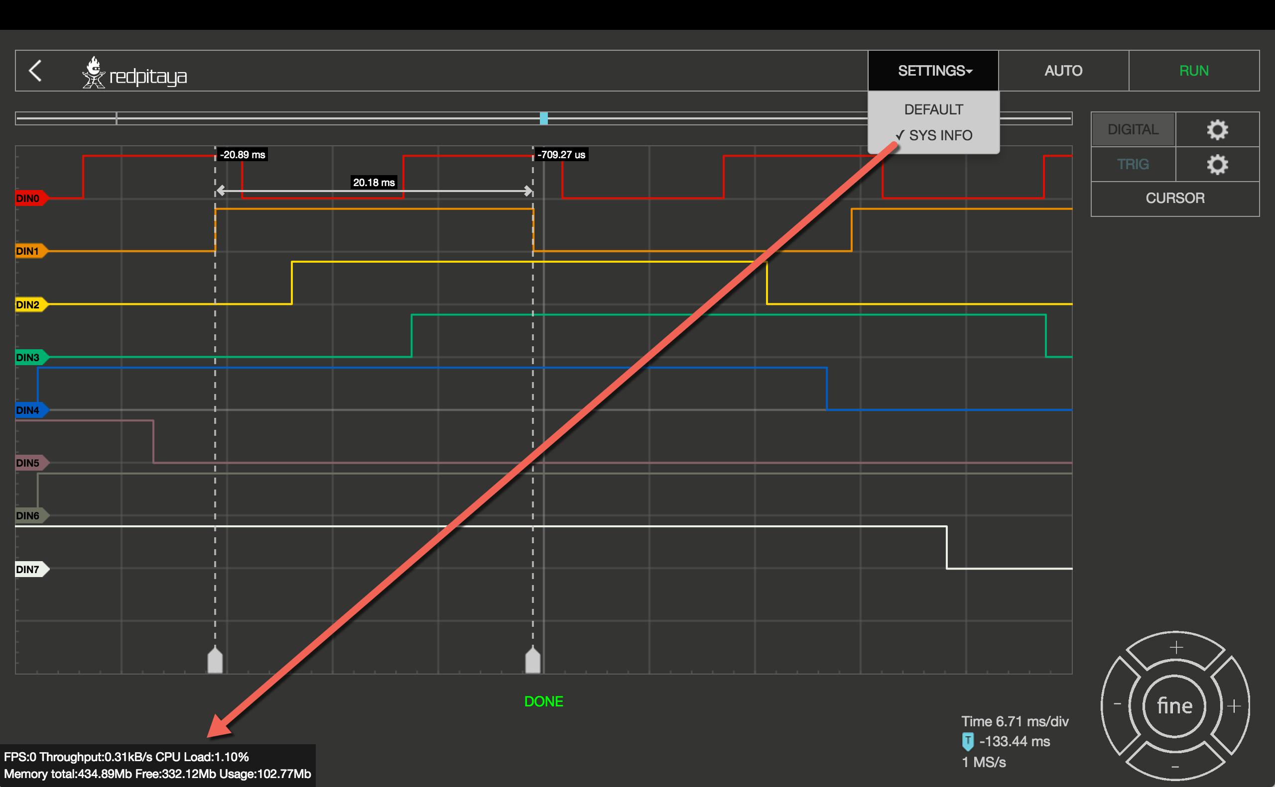 Red Pitaya Logic Analyzer App Hardware Indibit Diagram Sysinfo