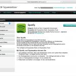 mysqueezebox.com: Anwendung Spotify installieren