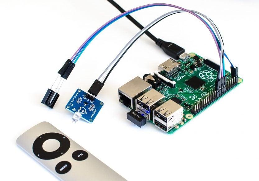 Raspberry Pi mit IR-Receiver und IR-Emitter