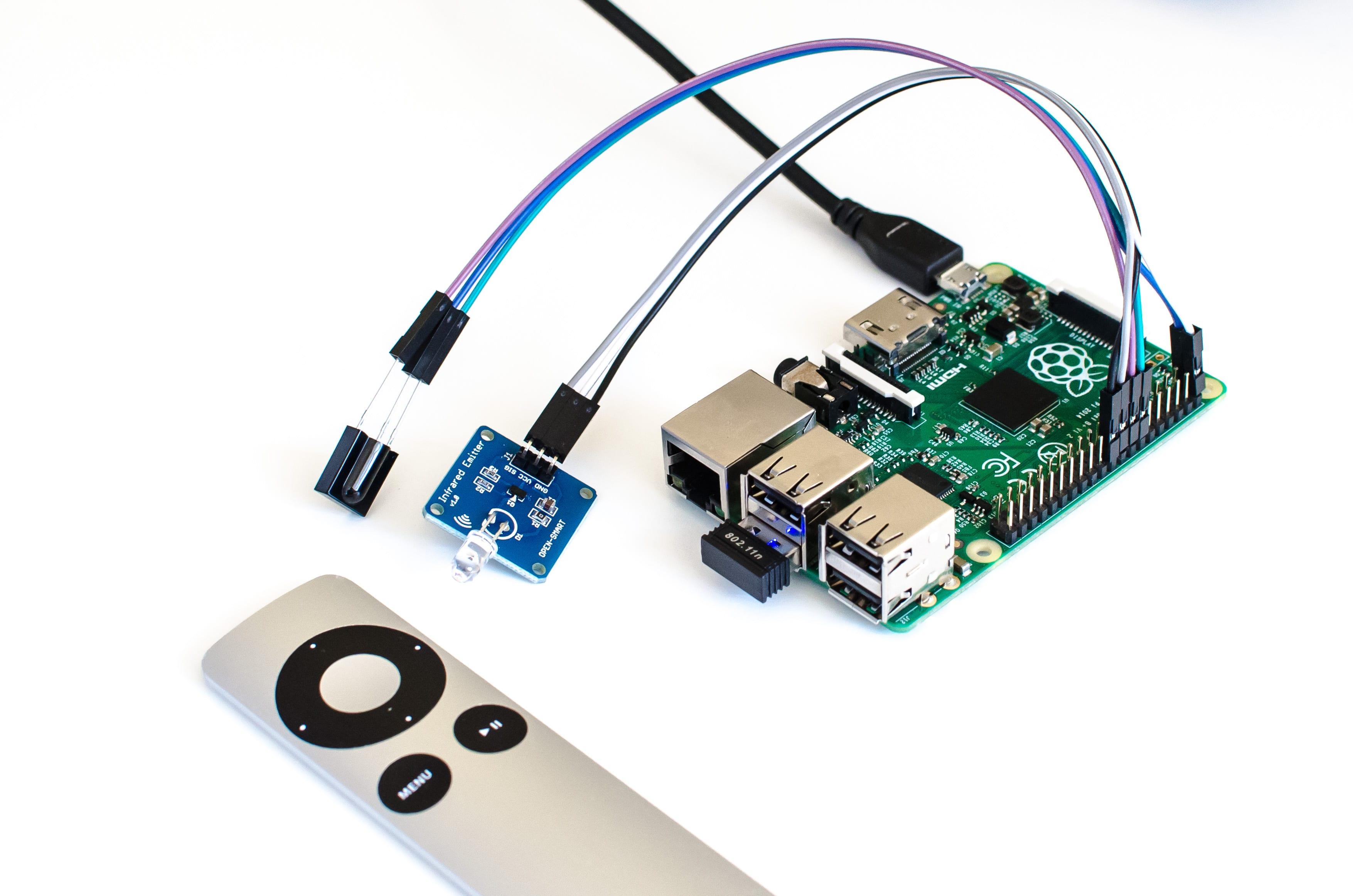 Raspberry Pi Mit Lirc Infrarot Befehle Senden Irsend Indibit Ir Rc5 Remote Control Transmitter Receiver Und Emitter