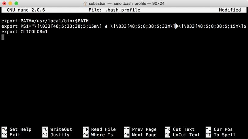 macOS Terminal: .bash_profile
