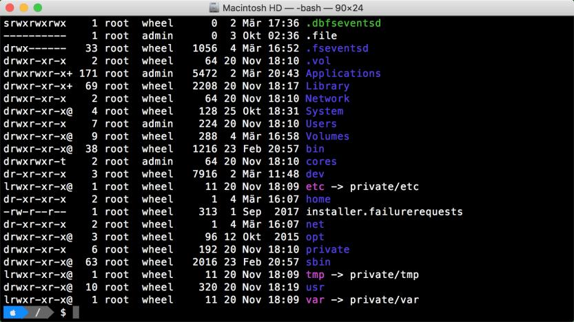 macOS Terminal: clicolor