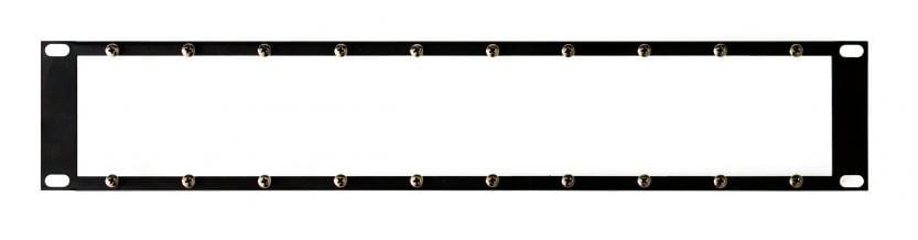 2HE-Rackblende für Modulsystem