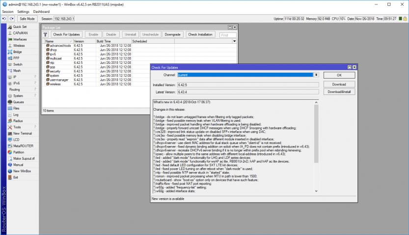 Mikrotik: Update per WinBox