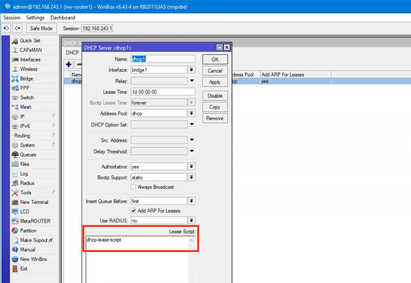 Mikrotik: DHCP-Server