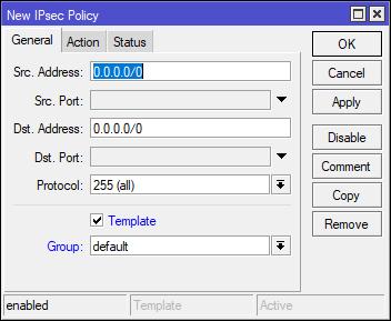 Mikrotik: IPsec Policy
