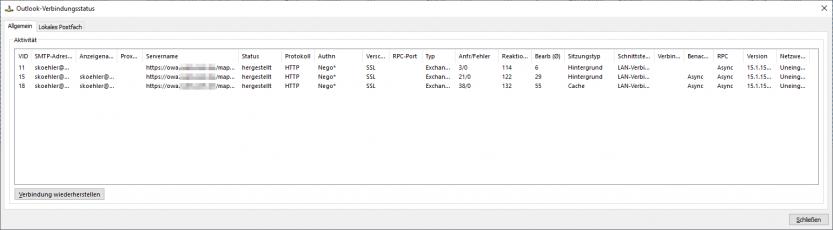 Reverse-Proxy: Outlook-Verbindung über NTLM